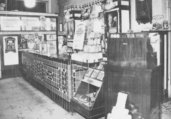 Benson Drug Company Muskegon Pharmacy Counter