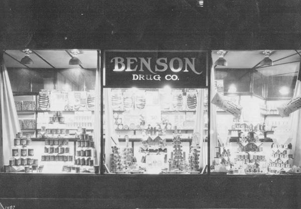 Benson Drug Company Store Window Display