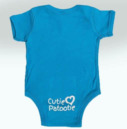 Bensons Baby Boy or Girl Teal Onsie Back