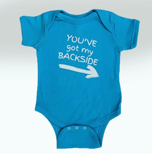 Bensons Baby Boy or Girl Teal Onsie Front