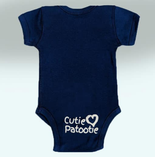 Benson's Baby Boy Royal Blue Onsie Back
