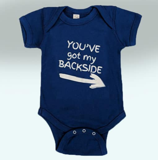 Benson's Baby Boy Royal Blue Onsie Front