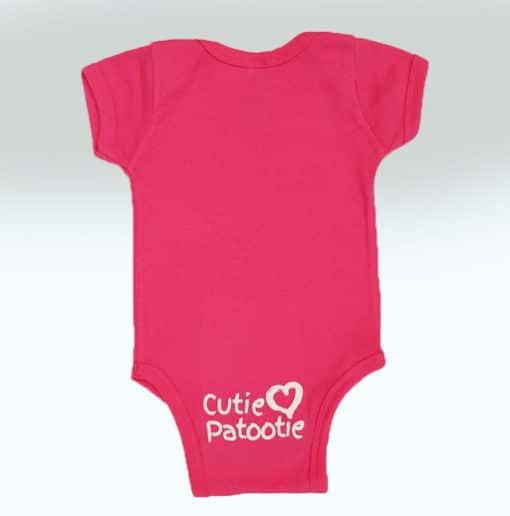 Bensons Baby Girl Hot Pink Onsie Back