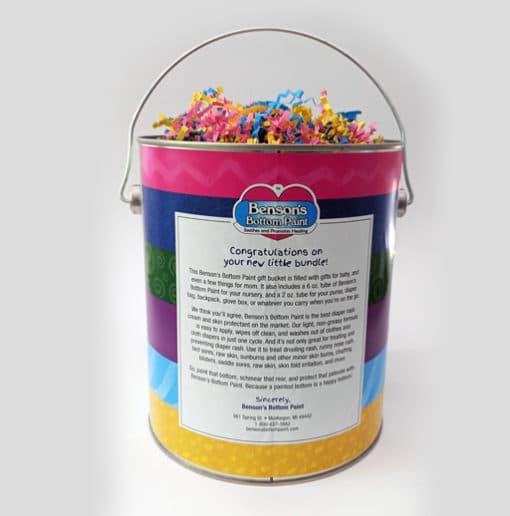 Bensons Baby Gift Bucket Back